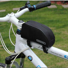 Cycling Bags Black Bright Bicycle Bike Frame Pannier Front Cycling Tube Bag