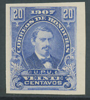 HONDURAS 1907 Präsident José Maria Medina 20C ungebr. ungezähnter PROBEDRUCK