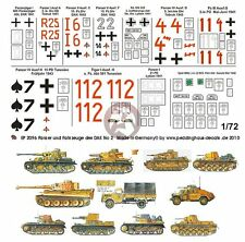 Peddinghaus 1/72 DAK Afrika Korps Tank & Vehicle Markings #2 (11 vehicles) 2096