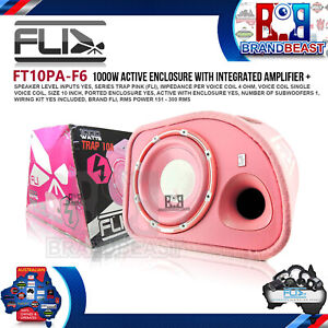 """FLI FT10PA-F6 10"""" Car Audio 1000 Watts Active Subwoofer With Built-In Amplifier"""