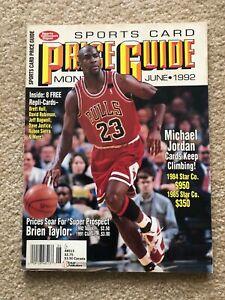 Sports Collectors Digest PRICE GUIDE June 1992 MICHAEL JORDAN w/ 8 CARDS