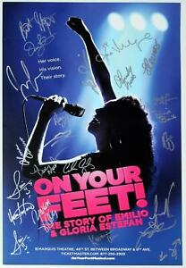 ON YOUR FEET Broadway Cast Josh Segarra, Ana Villafane Signed Poster