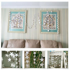Garland Banner 4M Silver Star Paper Bunting Drop Wedding Party Home Decor.D2845