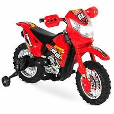 Kid 6V Motorcycle Dirt Bike Electric Ride On Toy w/ Side Wheels Gift for Boys