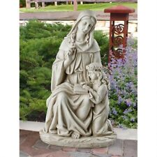 St. Anne With The Young Mary Mother Of Jesus Design Toscano Exclusive Statue