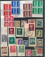 Lot Stamp Germany Norway Poland WWII War Era Hitler RAD Blocks Red Cross MNG