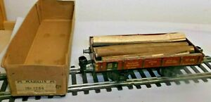 Märklin 1764 Scale 0 Low Side Cars With Load of Wood IN Boxed Without Lid