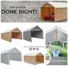Outdoor XL Canopy Carport Tent Car Shelter Garage Storage Shed Sun UV Proof Cove