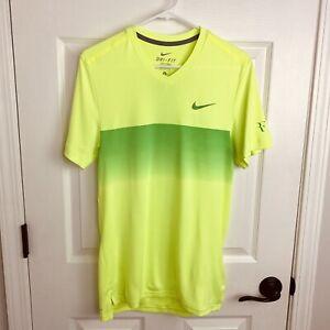 Roger Federer Nike 2014 Madrid Clay Polo Shirt Mens Size Small RF Tennis RAFA