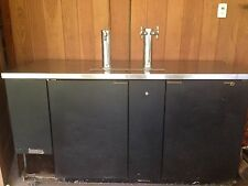 "TRUE TDD 3 DIRECT DRAW BEER DISPENSER 70"" 3KEG KEGERATOR W/3 TAPS WE SHIP!!"