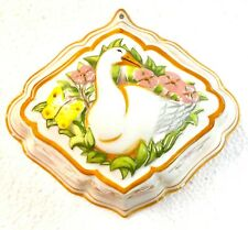 Vintage 1986 Franklin Mint Porcelain Le Cordon Bleu Goose Decorative Jello Mold