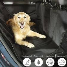 Foldable Nylon Waterproof Oxford Dog Car Mat Back Seat  Hammock Seat Cover Black