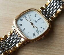 Men's Gold Plated Omega DeVille Quartz Wrist Watch
