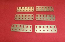 Lot de 6 poutrelles plates  dores de 6 trous Meccano N°103e état neuf