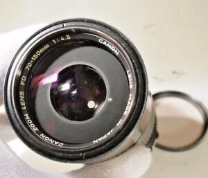 Canon 70-150mm f4.5 Lens FD zoom manual focus telephoto