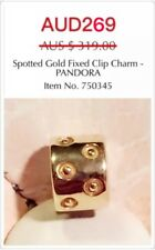 GENUINE PANDORA 14K SOLID GOLD CLIP CHARM, 750345