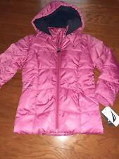 Nautica Girls Pink Navy Blue Hooded Winter Jacket Size 6