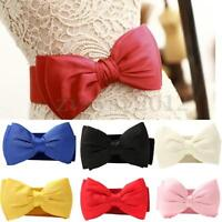 Women's Fashion Elastic Wide Bowknot Bow Stretchy Buckle Waistband Waist Belts