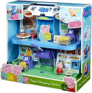 Peppa Pig PEPPA'S SHOPPING CENTRE Playset Toy NEW
