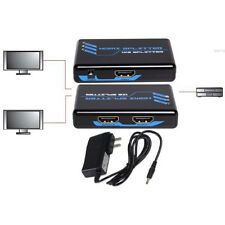 2way Active HDMI Y Splitter/Amplifier Cable/Cord Adapter HDTV/Plasma/TV/DVR/DVD