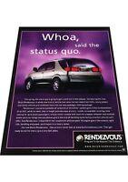 2001 Buick Rendezvous 2-page -  Vintage Advertisement Car Print Ad J424