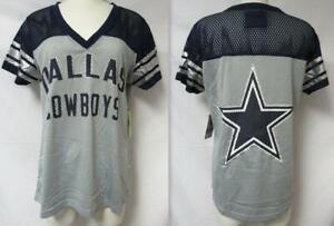 Dallas Cowboys Womens Size Medium Foil Accented Mesh Jersey Shirt A1 2449