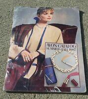Vtg 1987 Summer Fall Avon Catalog book MAKE UP COSMETICS JEWELRY Men & Women