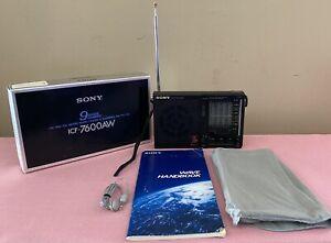 Sony ICF-7600AW 9 Band Portable Radio MIB VERY NICE!