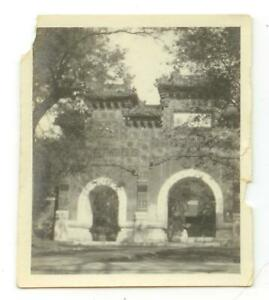1930s China photo from missionary collection - large wall entryway