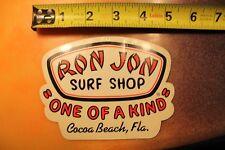 RON JON Surf Shop Cocoa Beach Florida Surfboards 9b Vintage Surfing STICKER
