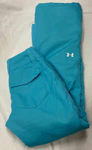 UNDER ARMOUR Turquoise ColdGear Infrared Ski Snowboard Pockets Zipper Vents Sz S