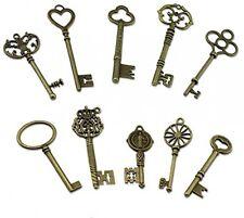 PsmGoods® Vintage Skeleton Antique Keys Charm DIY Padlock Old Style BRAND NEW