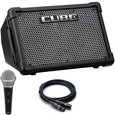 Roland CUBE Street EX Battery Powered Guitar Combo Amp + Vocal Mic + Cable
