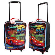 "Disney Cars Lightning Mcqueen School 16"" Rolling Pilot Case Travel Luggage Bag"