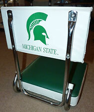 MICHIGAN STATE UNIVERSITY SPARTAN FOLDING STADIUM SEAT BACK MSU GO GREEN NICE !!