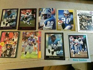 Barry Sanders Detroit Lions Oklahoma State RB NFL RARE Oddballs Cards YOU PICK