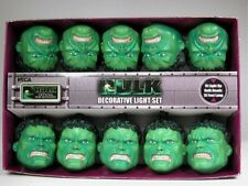 "NECA INCREDIBLE HULK Decorative Holiday Lights Set Christmas String 10"" Marvel"