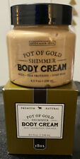 Beekman 1802 NEW IN BOX SEALED Pot Of Gold Shimmer Body Cream Lotion 8 oz.