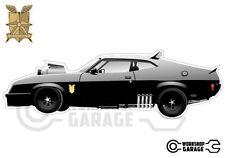 Mad Max Black Interceptor movie car  - XX Large Sticker - Side View