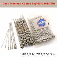 1.0-2.3mm Diameter Diamond Coated Drill Solid Bit Needle Glass Tile Jewelry Gems