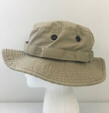 Woolrich Canvas Jungle Hat Floppy Fishing Hiking Sun Cap Khaki Sz Small Made USA