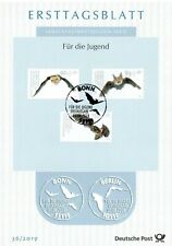 BRD 2019: Fledermäuse! Ersttagsblatt der Jugendmarken Nr. 3485-3487! 20-07