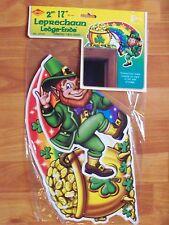 """17"""" Leprechaun Ledge-Ends St Patrick Cutouts 2000 Beistle 2 Pack Decoration Nos"""