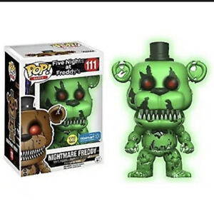 Funko Pop! FNAF Nightmare Freddy #111 GITD Walmart Exclusive *MINT*