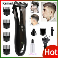 New Professional Hair Clippers Trimmer Kit Hair Cutting Machine Barber Salon Men