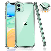 For iPhone 11 Pro XS Max XR Shockproof Crystal Clear Bumper Silicone Case Cover