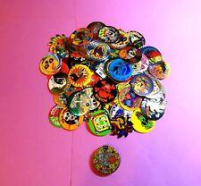 Pogs 100 SKULLS CROSS BONES POISON + 1 Plastic Miscellaneous Poison Slammer