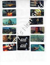 STAR WARS PHANTOM MENACE Set 24 Miniature BUBBLE GUM Stickers CRAZY PLANET Mini