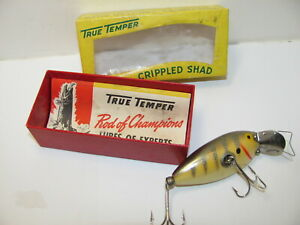 MINTY TRUE TEMPER CRIPPLED SHAD LURE NEW IN BOX WITH CATALOG