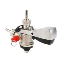 S Type Keg Tap with Lever Handle Stainless Steel Beer Dispenser for Home Pub